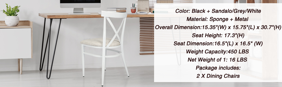 Dimension of chairs