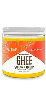 Bulletproof grass fed ghee clarified butter pasture raised keto