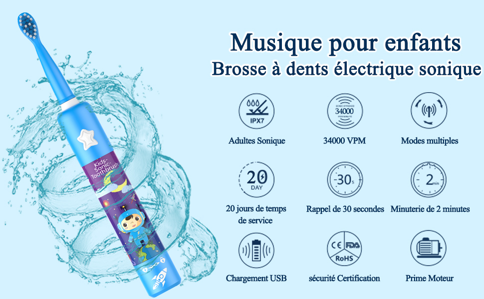 musical toothbrush FR BLUE
