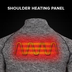 shoulder heating elements heating panels over sides