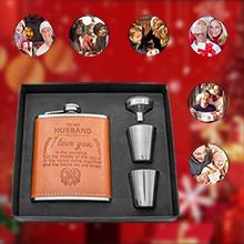 gift for women black flask gift set