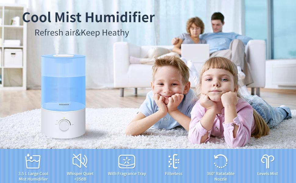Cool mist humidifer