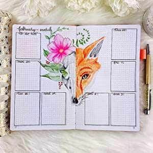 clever fox dot grid pages
