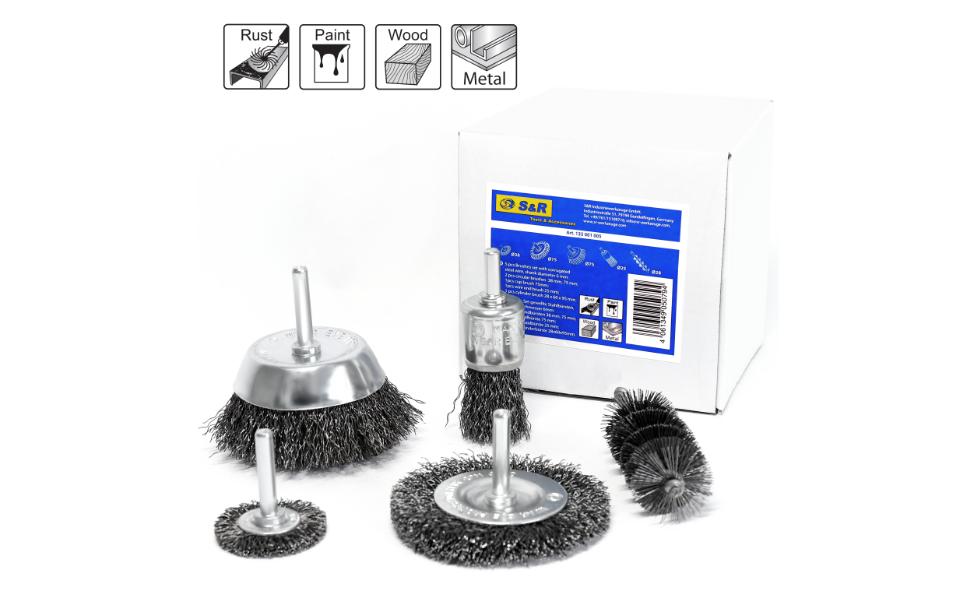 3/mm Fil dacier de nettoyage brosses de roue Brosse coupe kit de fixation de polissage pour meule /à matrice Dremel outils rotatifs Lot de 60