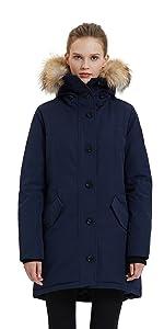 Waterproof winter coat for women