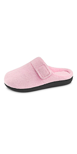 Women's Adjustable Strap Slippers with Cozy Memory Foam
