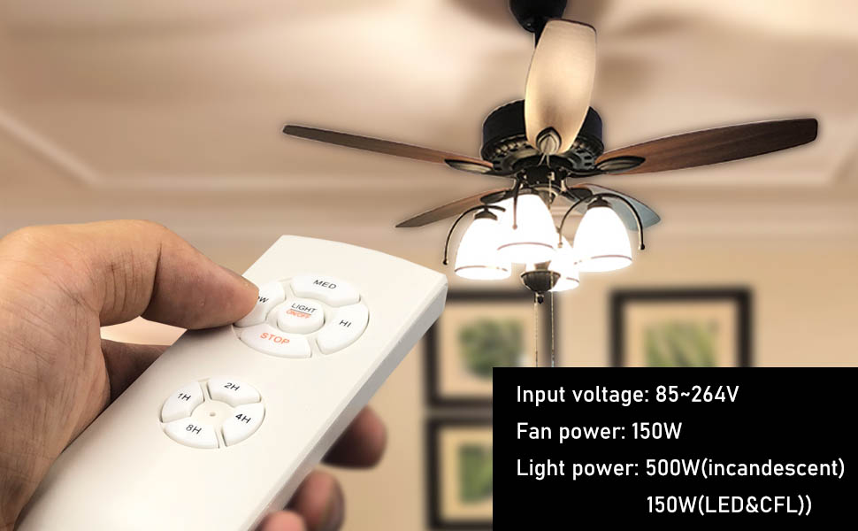 ceiling fan lights with remote