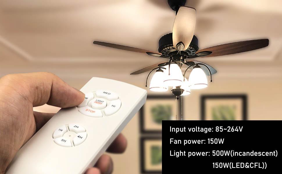 YUKIHALU - Mando a distancia universal para ventilador de techo, tamaño pequeño, con 3 ajustes de velocidad y control de luz, mando a distancia inalámbrico con opción de silencio: Amazon.es: Iluminación
