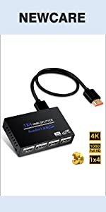 1 In 4 Out HDMI Splitter