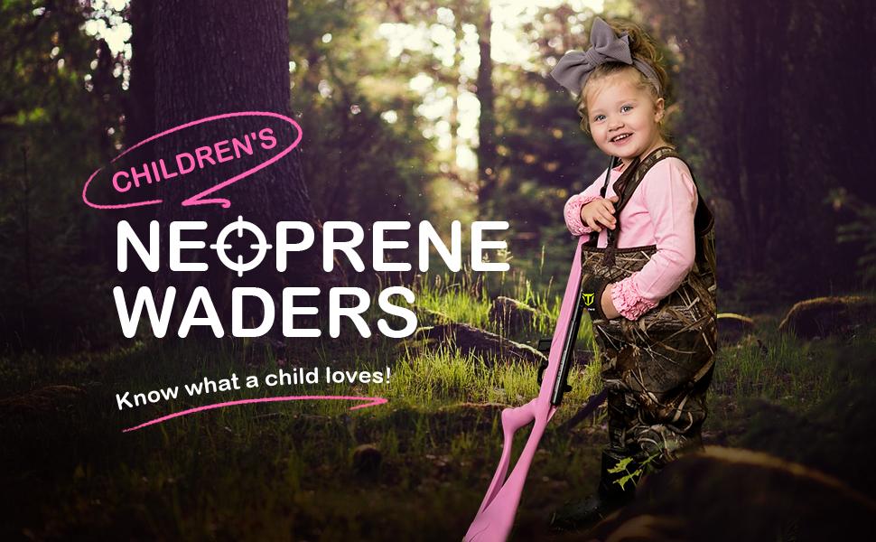 children hunting wader