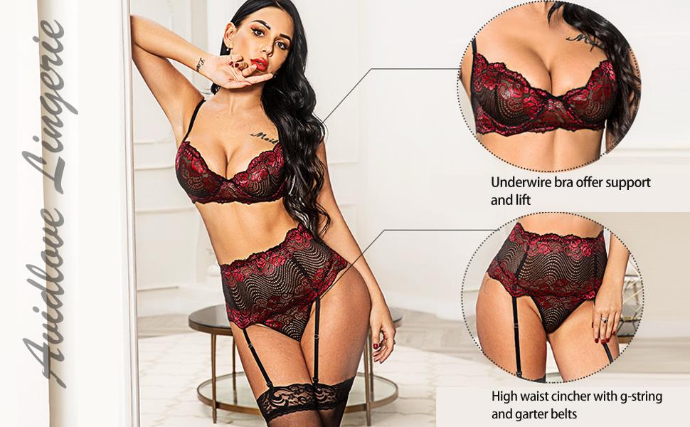 high waist lingerie set