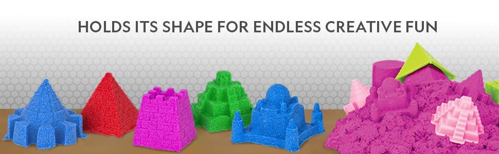 kinetic, sand, castle, stress, sensory, activities, educational, toys, gifts, play, set, sandbox