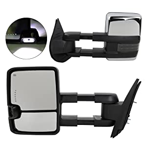 3500 HD AUTOMUTO Towing Mirrors Left Driver Right Passenger Side Tow Mirrors Power Adjusted Black Housing Heated Compatible with 2007-2014 Chevy GMC 2007-2007 GMC Sierra 1500//2500 HD