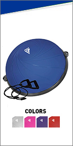 Balance Trainer with Resistance Bands, Anti-Skid Inflatable PVC Air Dome Ball