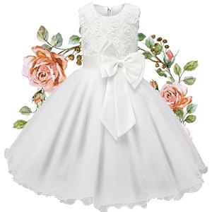 Girls Floral Princess Dress