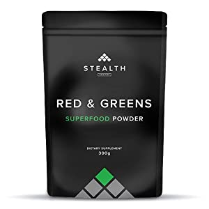 Pure RED & Greens Superfood - Stealth Nutrition | 34 Vegan Superfoods and  Natural Ingredients, Green and Red Fruits, Berries,Vegetables, Prebiotics &  Digestive Enzymes - 300g (Dark Chocolate): Amazon.co.uk: Health & Personal