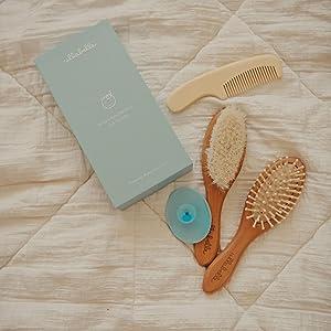baby grooming kit baby brush wooden hair brush