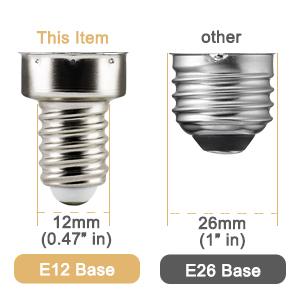 e12 base candelabra bulb