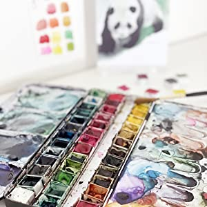 All your little cards are hand-painted with real watercolour and brushes from my art studio