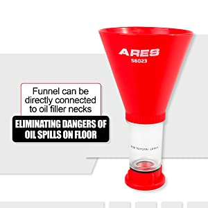 ARES 56023 and Multiple European Applications Lexus Spill-Free Oil Filling Easy to Use 1-Person Design Fits Toyota Oil Funnel for Toyota and VW Lexus