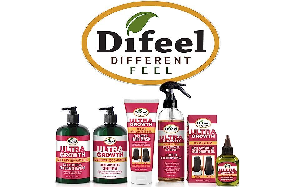 Difeel Ultra Growth with Basil amp; Castor Oil Family