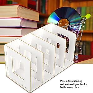 Cherry Wood Betued Scaffale da scrivania in Legno Multi-Slot Durevole scaffale per Libri per Ufficio Domestico