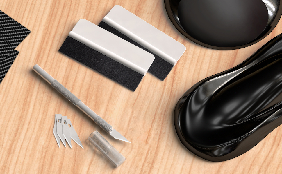 Rakel-Set von ,hochwertiges Folierungs-Werkzeug-Set mit Präzisionsmesser und Folienrakel