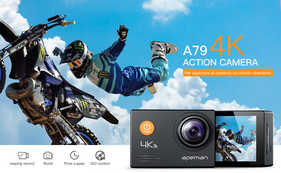 Apeman action cam 4k wifi