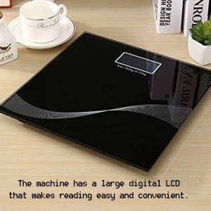 Electronic Thick Tempered Glass LCD Display Digital Personal Bathroom Health Body Weight SPN-REE