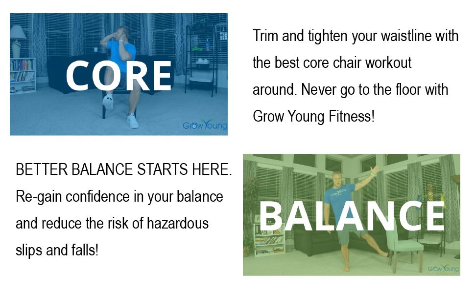 CORE WORKOUT BALANCE EXERCISE