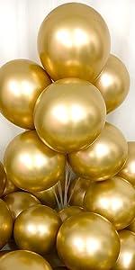 chrome gold balloons