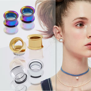ear tunnels gauges stainless steel