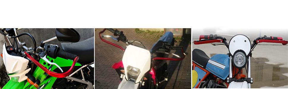 Triclick Prot/èges mains 7//8 22mm Moto Universel Handguards Protecteur Rouge