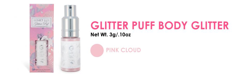 glitter puff body glitter body spray body shimmer body spray glitter glitter puff winky lux