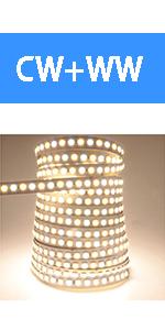 dual white led strip lights