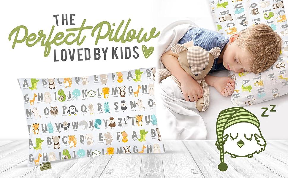 toddler pillow pillows pillowcase pillowcases bed bedding crib nursery baby infant newborn cute set