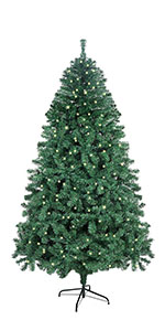 7ft PVC Artificial Christmas Tree with 400 LED Lights