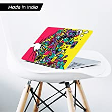 Quirky cartoon colorful comic laptop skin sticker