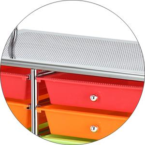 drawer cart top shelf