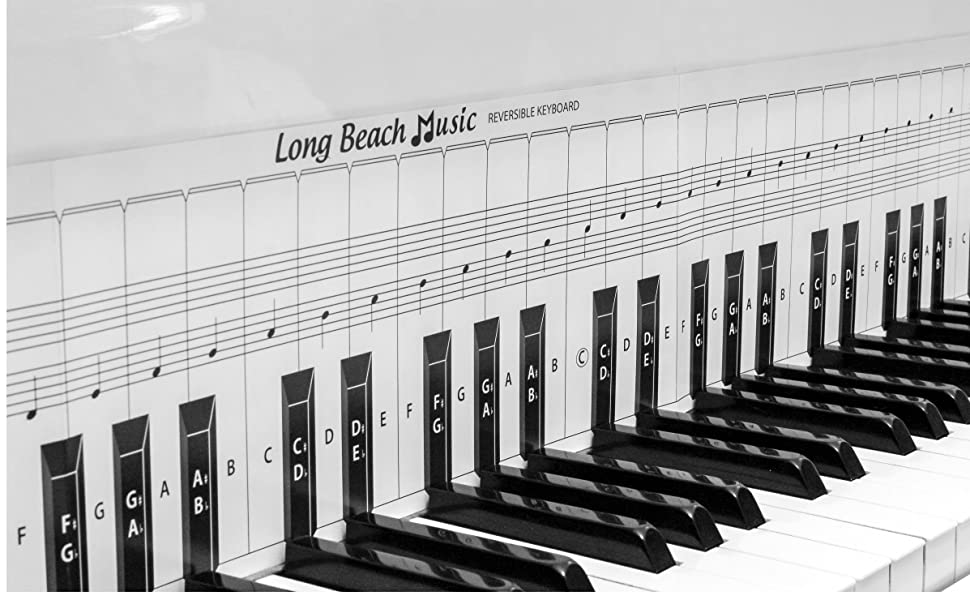 Practice Piano Keyboard and Note Chart