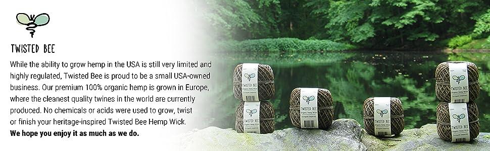 Organic Hemp Wick