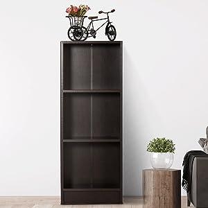 DeckUp Lexis Book Shelf/Display and Storage Unit (Dark Wenge, Matte Finish SPN-FOR1