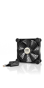 AC Infinity MULTIFAN S3 Quiet 120mm AC-Powered Fan Receiver DVR Playstation Xbox Component Cooling