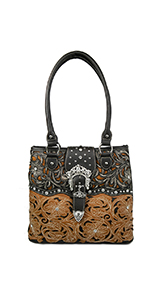 Tote Bag Women with Zip Laser Cut Studded Bag