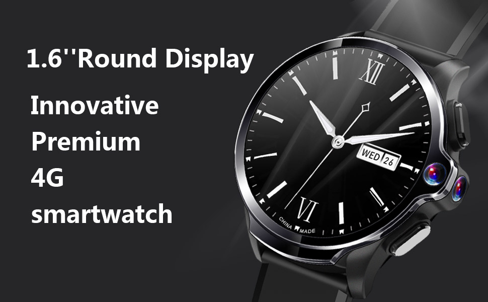 round display watch,4g smart watch supports calling and face unlock