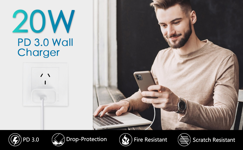 USB C PD Fast Charger 20W Wall Charger