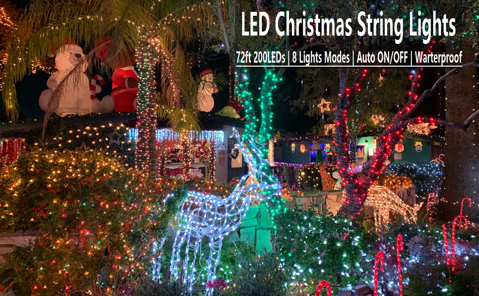 solar Christmas led lights