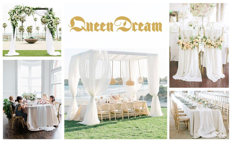 White Wedding Table Runner