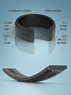 rinfit ring for men black color sizes 7-14