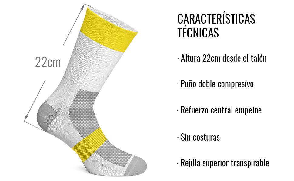 NORTEI - Calcetines de Ciclismo, MTB y Running de Meryl para ...